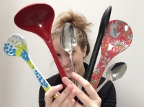 The appropriate way to mark being sick for 6 years is to collect spoons from the kitchen and take pictures with them
